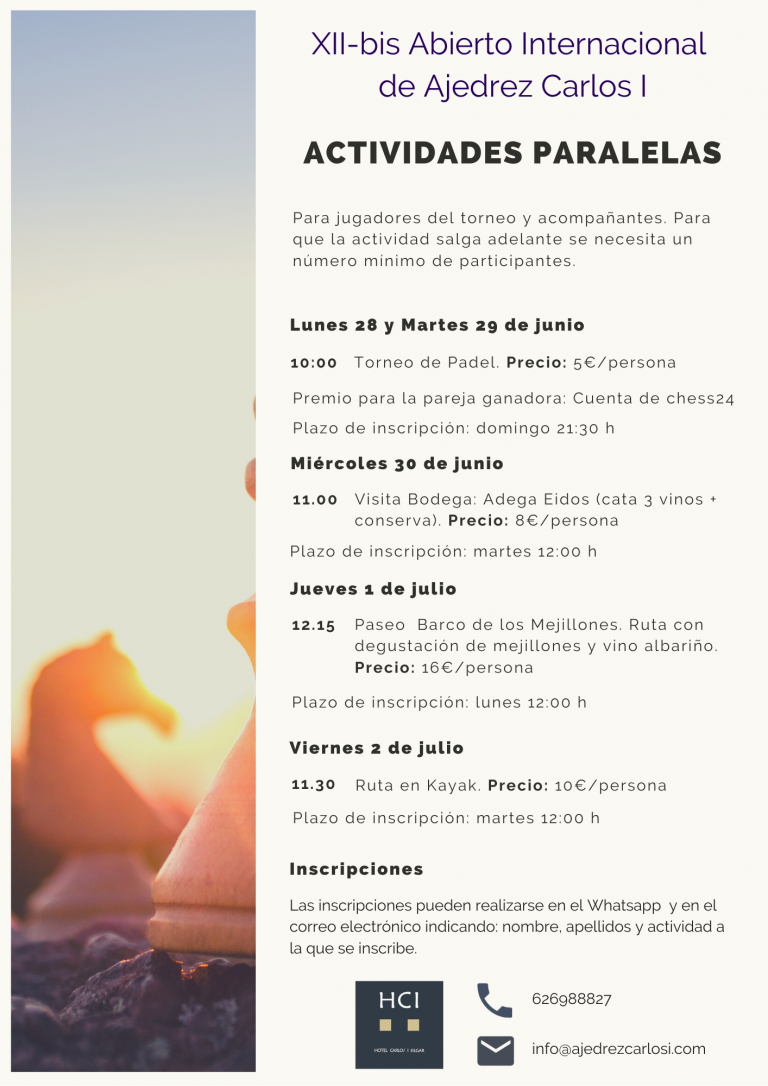 Actividades de Ajedrez Sanxenxo